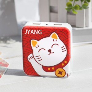 Lucky Cat alimentatore mobile slim compatto carica tesoro 10000mAh Mini caricatore simpatico cartone animato